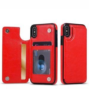 Leather Flip Wallet Card Holder Case Apple IPhone